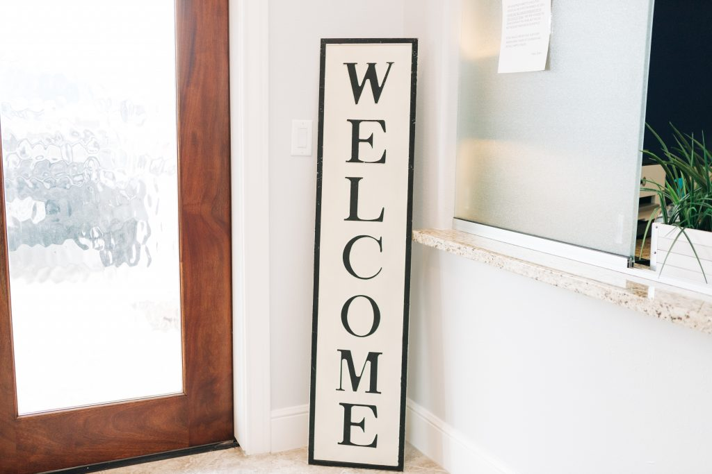 OFFICE PHOTOS- WELCOME SIGN